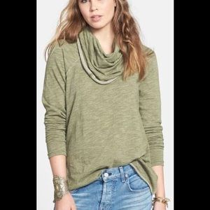 Free people Beach Oversized Cowl neck